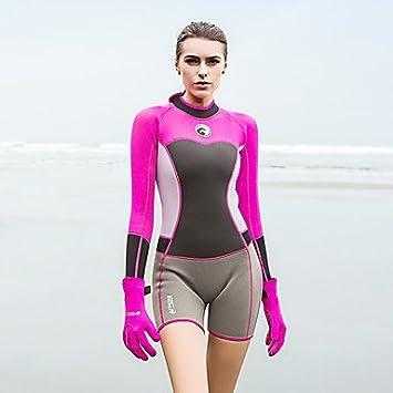 Sbart HISEA® Mujer Traje de Neopreno Corto 1,5 mm SCR Neopreno ...