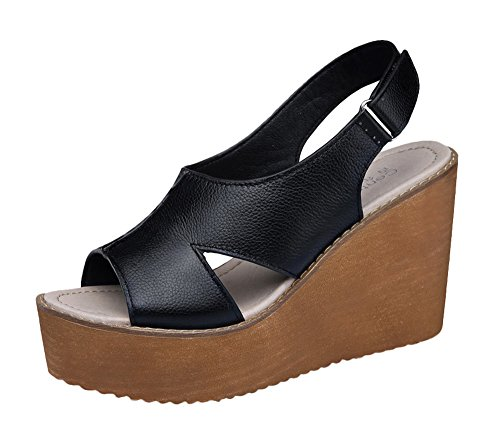 tmates-womens-peep-toe-slingback-velcro-wedges-heel-leather-sandals-7-bmusblack