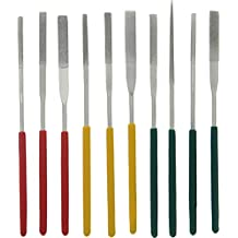 SE 742DF 10Pc X140mm Tapered Diamond Needle File Set