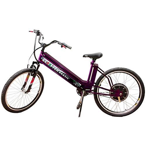 Bicicleta Elétrica MTB 800W 48V 12Ah Roxa