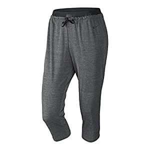 Nike Women's Cool Touch Dance Crops, Black Heather/black- Large