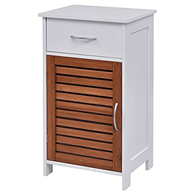 Bathroom Standing Cabinet with Shutter Door Only by eight24hours + SPECIAL GIFT Organic Natural Silk Cocoons - Features handles for easy open and close. With a durable construction for lasting use. Drawers run on smooth, all-metal roller glides with built-in safety stops.Modern design finish to complement any decor. Space saving floor cabinet, ideal for storing toiletries like toilet paper, extra shampoo bottles, soap, and more. - shelves-cabinets, bathroom-fixtures-hardware, bathroom - 41t2VamPqhL. SS400  -