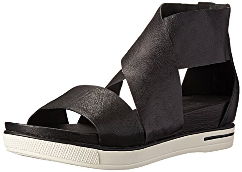 Eileen Fisher Women's Sport Sandal, Black Tumbled Leather, 8 M US from Eileen Fisher