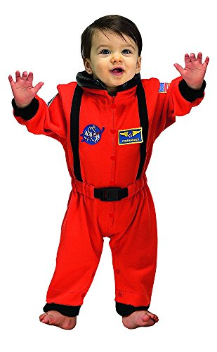 Aeromax Jr. Astronaut Suit with NASA patches, Orange, Size 6/12 -