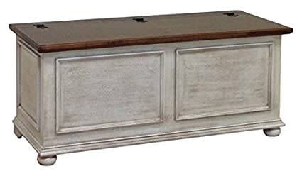 Baule Legno Fai Da Te : Pieffe mobili cassapanca baule legno bianco cm