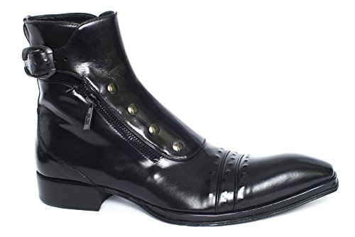 Jo Ghost 3207 black leather zip up boots