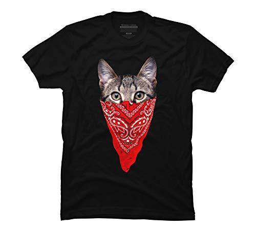 Design By Humans Gangster Cat Men