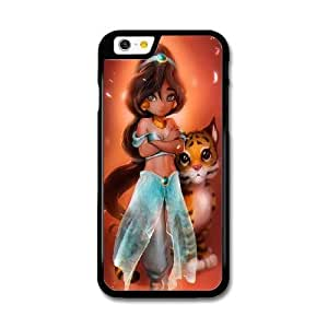 iPhone 6 6S 4.7 Inch Case Black Jasmine disney princess_001