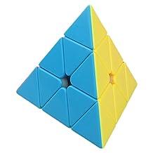 Willking Pyraminx Pyramid Speed Magic Triangle Cube Rubik's Twisty Puzzle for Kids Intelligence Development,Stickerless