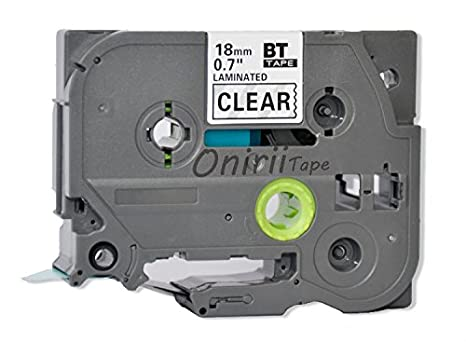 TZ-141 Black on Clear Label Tape 18mm 8m Compatible for Brother P-touch TZ-e141