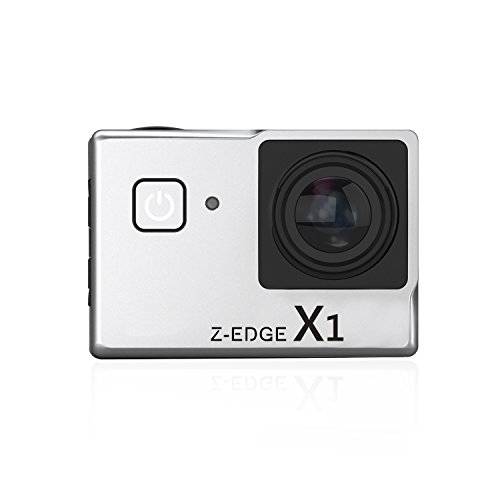 Z-Edge Action Camera 4K WiFi Ultra HD Waterproof Sport Camera 2 inch LCD Screen 6MP 170 Degree Wide Angle 2 Rechargeable 1000mAh Batteries(Silver)