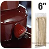 "1,200 NEW 6"" CHOCOLATE FOUNTAINS / KEBAB KABOB BAMBOO SKEWERS. [Lawn & Patio]"