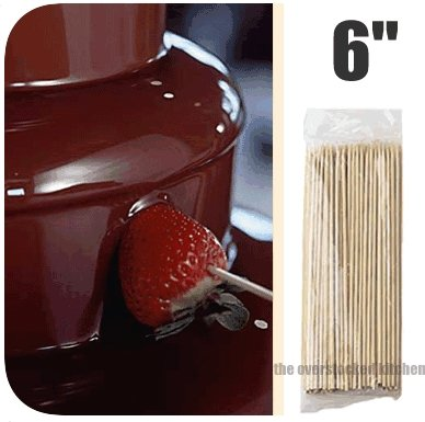 CHOCOLATE FOUNTAINS KEBAB BAMBOO SKEWERS product image