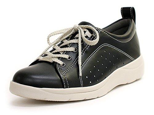 旅行者性能隣接するパンジー 靴 ウォーキングシューズ レディース 歩きやすい 超軽量 コンフォート[クロ×22.0]