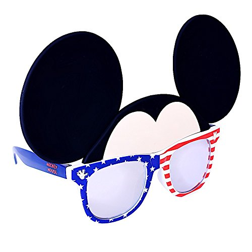 Sunstaches Disney Mickey Mouse Red White and Blue Character Sunglasses, Instant Costume, Party Favors, UV400 for $<!--$9.85-->
