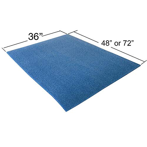 Oodles of Noodles Foam Sheet Roll 1/2 Inch Thick for DIY Projects - Durable, Easy to Cut. - Blue 72 inch
