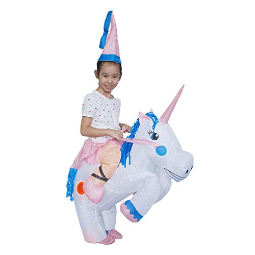 Unicorn Inflatable Costume Halloween Party Spoof Trick Cosplay Toy for Kids & Adults Funny Game (2'9-4'2 -