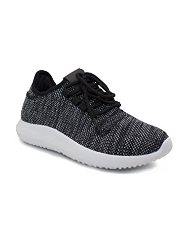 Ladies Running Trainers Comfort Fit Light Weight Classic Womens Shoes Black/White
