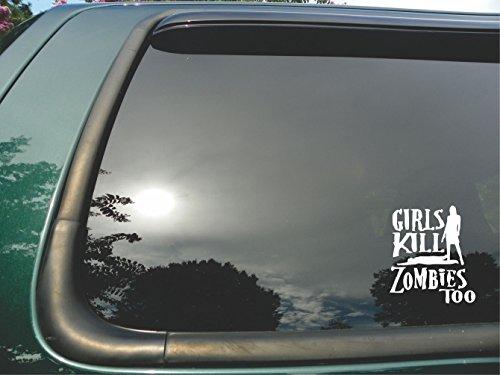 Girls Kill Zombies Too - Die Cut Christian Vinyl Window Decal/sticker for Car, Truck, Laptop 5