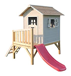 EXIT Beach 300 - casas de juguete (Playhouse on poles, Niño/niña, Gris, Rosa, Color blanco, Madera, Madera, FSC EN-71, 550 x 1955 x 130 mm)