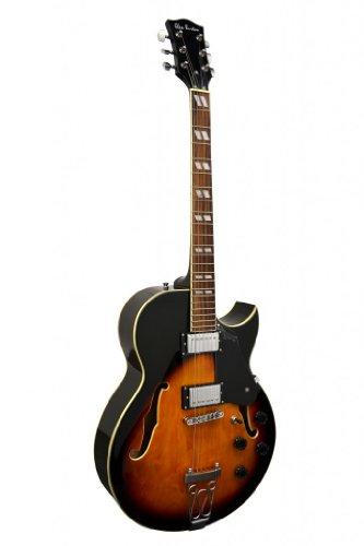 "Glen Burton GE775-CHIC-TS""Chicago"" Hollowbody Electric Guitar, Sunburst"