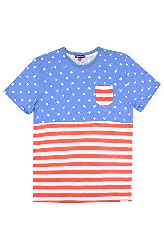 Tipsy Elves Men's American Flag Patriotic T Shirts - USA Tee Shirts for Men (Medium, American Flag Pocket Tee)