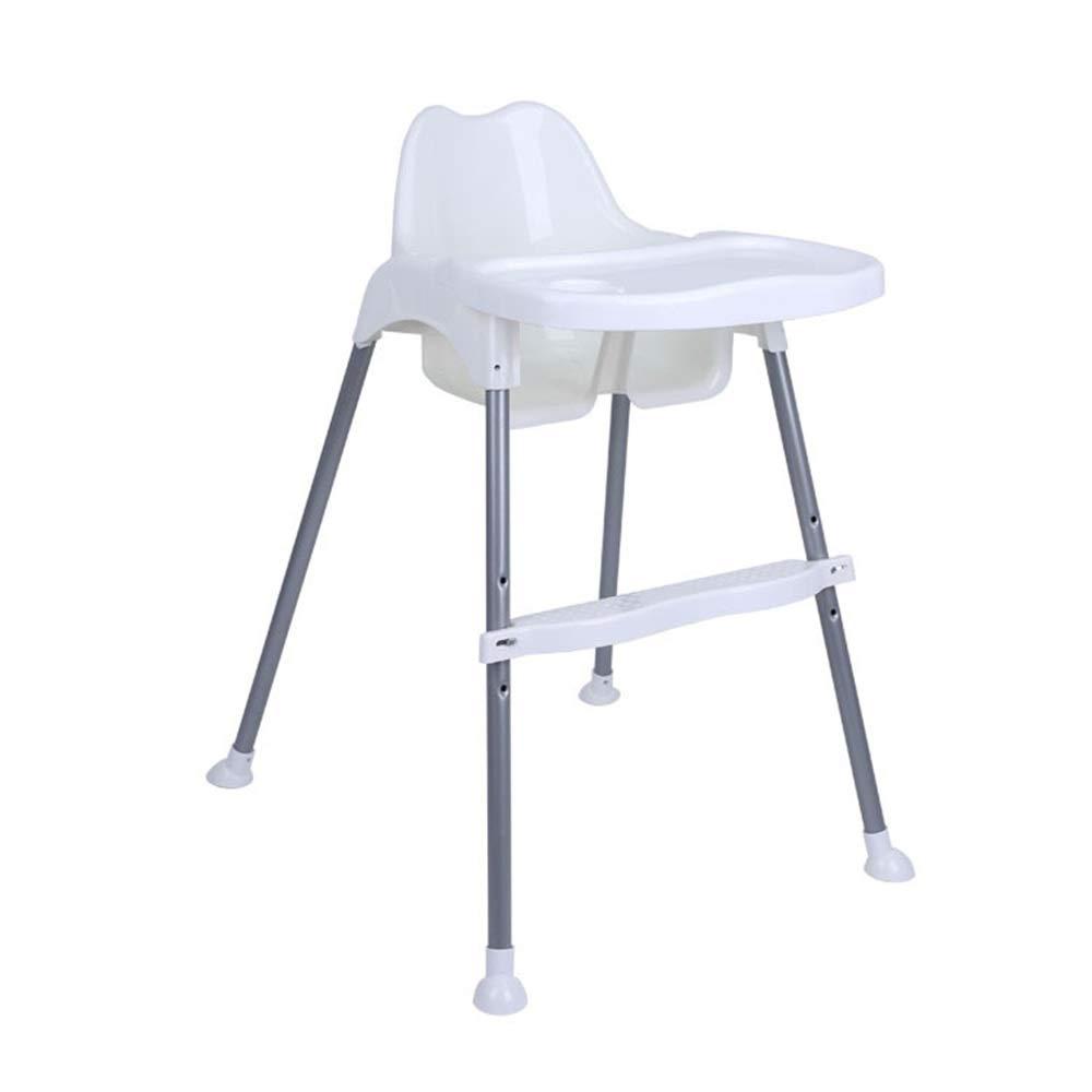 赤ちゃん ハイチェア子供 椅子 子供の夕食の椅子トレイ供給プレートテーブル滑り止め安全で快適なベビーブースターシートハイチェアポータブル折りたたみ式調節可能ベビー幼児子供 (色 : 白)  白 B07TG7XQTV