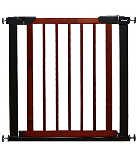 Wooden Safety Gate For Stairs Doors Playpen Fence Play Area Indoor Dog Fence Pet Playpen Isolation Railings No Need To Punch (Color : Cherry red)