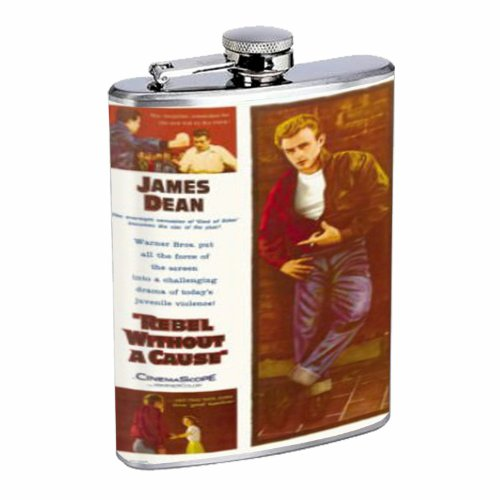 - James Dean Rebel Without A Cause 8OZ Stainless Steel Flask D-189