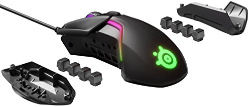 SteelSeries Rival 600 Gaming Mouse - 12,000 CPI TrueMove3Plus Dual Optical Sensor - 0.5 Lift-off Distance - Weight…