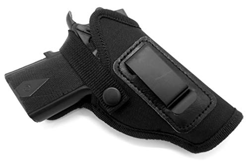 3 Super Belt Slide Holster - HOLSTERMART USA Dual-Function OWB Belt Slide or Concealment IWB/AIWB Clip-On Holster with Body Shield for Kimber Ultra Carry II 3