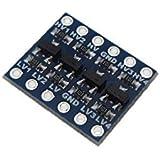 4CH Logic Level Converter for I/O TTL SPI I2C Signals voltage converter D16-7