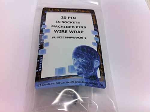 (U.S.Circuits 20 Pin Wire Wrap IC SOCKETS Machined Pins 2 Pack)
