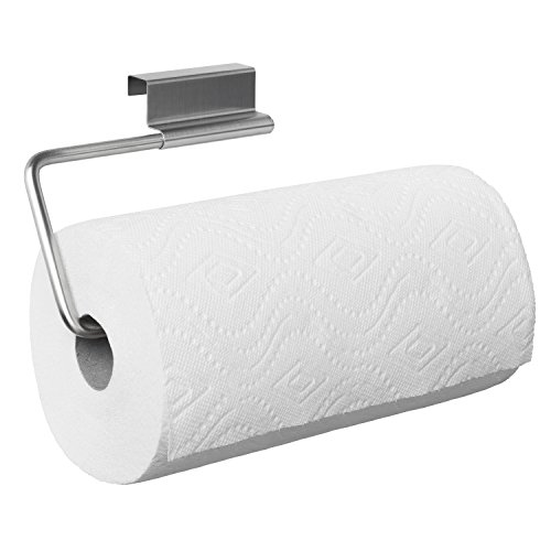 - YouCopia Over the Cabinet Door Stainless Steel Paper Towel Roll Holder