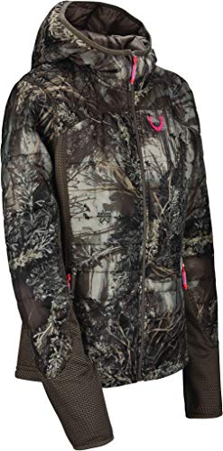 HUNTSHIELD Women's Lightweight Hunting Jacket | Realtree MAX-1 XT Camo | Water Resistant | Small