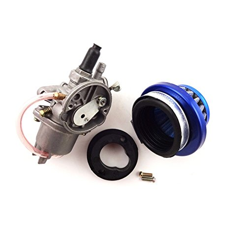 TC-Motor Blue Air Filter + Stack + Carburetor Carb For 2 Stroke 47cc 49cc Engine Parts Mini Dirt Pocket Bike Go Kart Kids ATV Quad