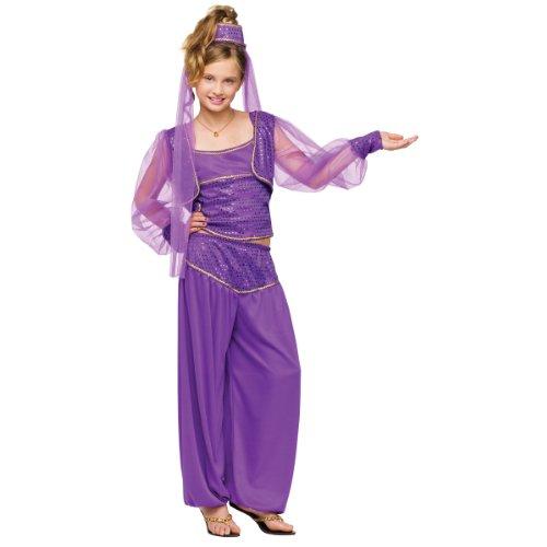 Fun World Girls Dreamy Genie Costume, Purple, Medium 8-10