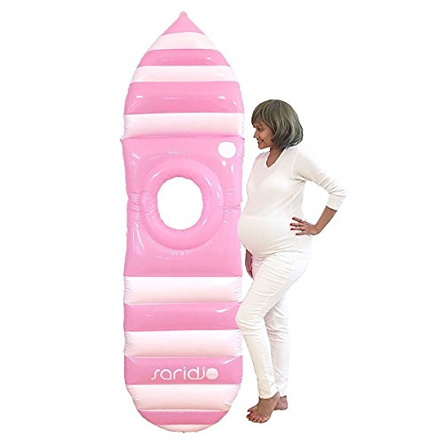 Saridjo Maternity Air Mattress / Bed Maternity Pillow / Float Surf Pool Bed Inflatable Pregnancy Swim Lounger - Baby Shower - Float Mattress