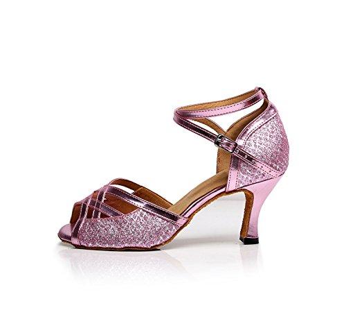 Minitoo ,  Damen Tanzschuhe Pink-7.5cm Heel
