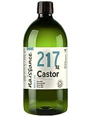 Naissance Ekologisk kallpressad ricinolja (nr 217) 1 liter - ren, certifierad organisk, oraffinerad, vegansk, hexanfri, ingen GMO