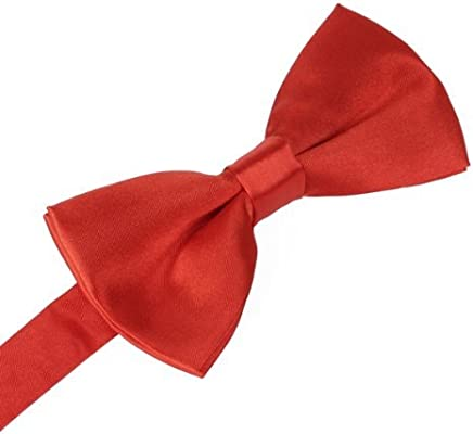 TOOGOO (R) Corbata Pajarita Bowtie Pre Tie Color Negro Rojo ...