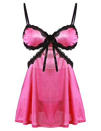 Women Lace G-string Lingerie RoseRed - 6