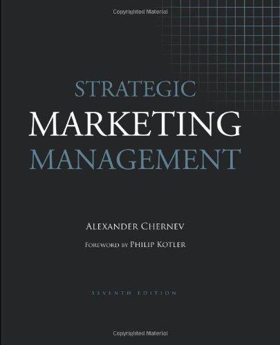 Strategic Marketing Management by Alexander Chernev (2012-08-01)