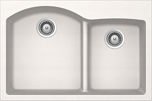 SCHOCK EDON175T099 EDO Series CRISTADUR 70/30 Topmount Double Bowl Kitchen Sink, Polaris