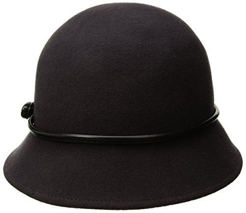 Betmar Women's Christina Felted Bucket Hat, Slate, One (Felted Bucket)