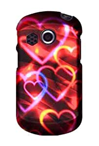 Graphic Rubberized Shield Hard Case for Pantech P6020 Swift - Colorful Hearts (Package include a HandHelditems Sketch Stylus Pen)