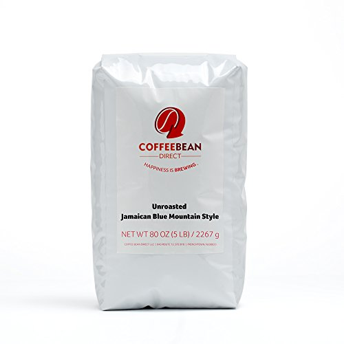 Green Unroasted Jamaican Blue Mountain Style, Whole Bean Coffee, 5-Pound Bag ()