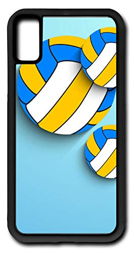iPhone Xs Case Volleyball Spike Serve Net 21 Woman's Men Customizable by TYD Designs in Black Rubber