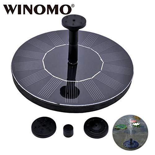Shoppy Star WINOMO Fuente de energía Solar Panel Solar Flotante Agua Fuente Bomba Kit para pájaros baño pecera pequeño Estanque jardín decoración