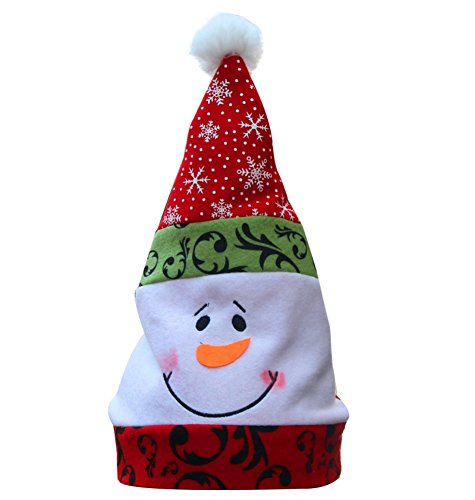 [Fedi Apparel Cute 6pcs/set Decor Xmas Hat Santa Christmas Caps Snowman Hats Decorations Party Hats for Children New Year] (Womens Homemade Snowman Costume)